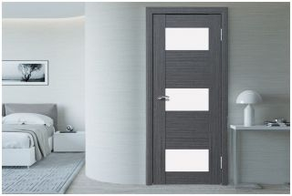 Дверь «Гиада-3» со стеклом «Лакобель белое»