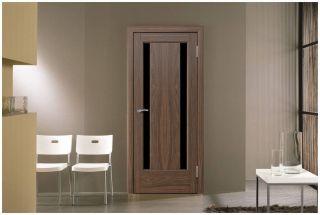 Дверь «Гера» со стеклом «Триплекс черный»
