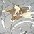 Лилия витраж (контурный витраж с заливкой)